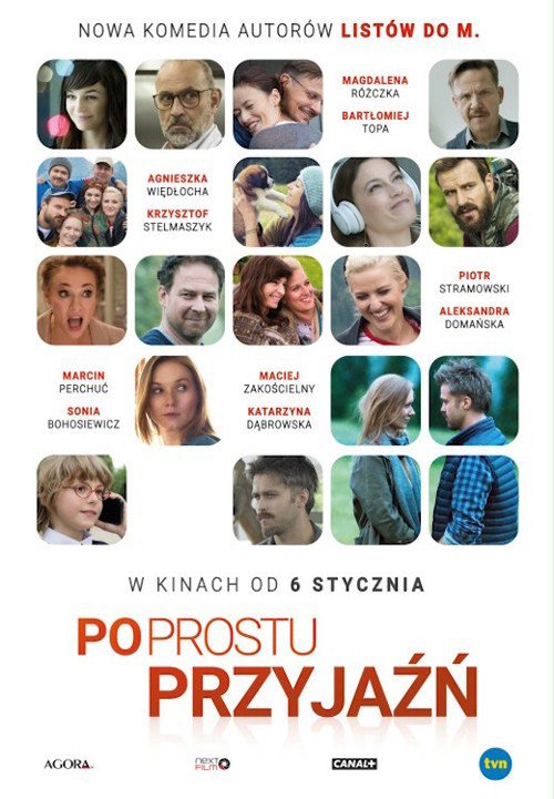"Poster for the movie ""Po prostu przyjaźń"""