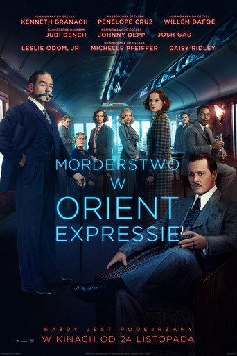 """Poster for the movie """"Morderstwo w Orient Expressie"""""""
