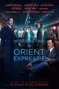 "Poster for the movie ""Morderstwo w Orient Expressie"""