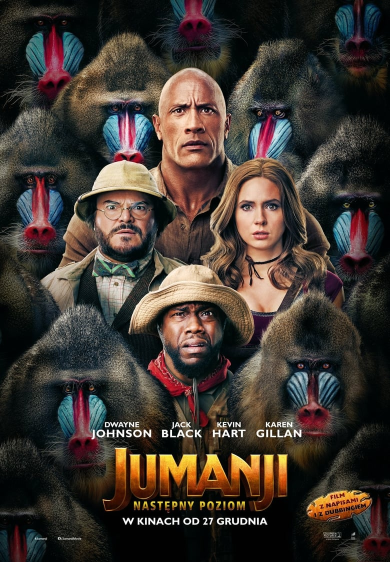 "Poster for the movie ""Jumanji: Następny poziom"""