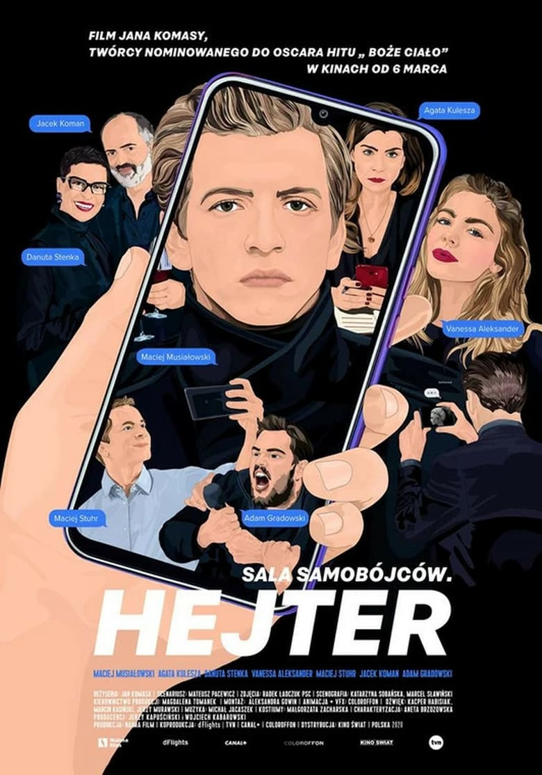"Poster for the movie ""Sala samobójców. Hejter"""